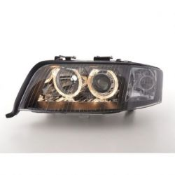 Coppia fari Angel Eyes Audi A6 4B 01-04 XENON neri
