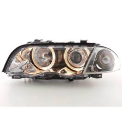 Coppia fari XENON Angel Eyes BMW 3 4porte E46 98-01