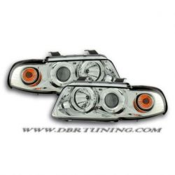 Headlights Angel Eyes Led Audi A4 B5 99-01