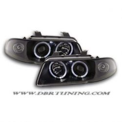 Headlight Angel Eyes Audi A4 B5 99-01 black
