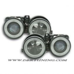 Gruppi ottici Angel Eyes BMW 3 E30 82-94 neri