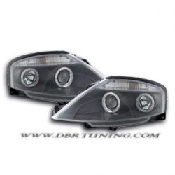 Gruppi ottici Angel Eyes Led Citroen C3 02-09 neri