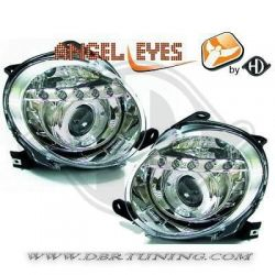 Gruppi ottici Angel eyes Led Fiat 500 07-15