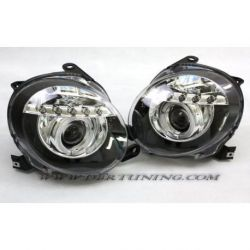 Gruppi ottici Angel eyes Led Fiat 500 07-15 neri