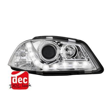 Coppia fari Daylight LED IBIZA 6L 02-08 cromo