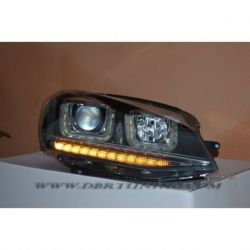 Fari Angel + freccia Led VW GOLF 7 12-17 neri