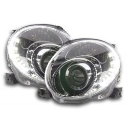 Gruppi ottici Angel eyes + Led Fiat 500 07