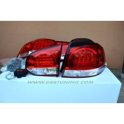 Taillight LED GOLF 6 R Look 08-12 red-clear Vland