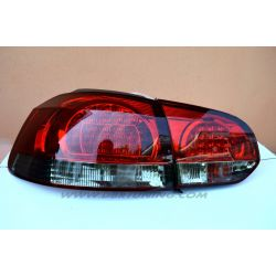 Taillight LED GOLF 6 08-12 red-smoke