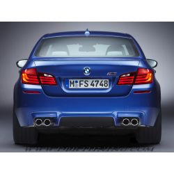 Diffusore scarico singola DX+SX MSport BMW 5 F10-11 10-13