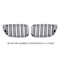 Grill BMW F22 F23 look M2 13- black chrome