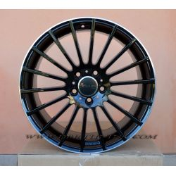Alloy wheel AVUS AC-M03 Black Lip Polish 18