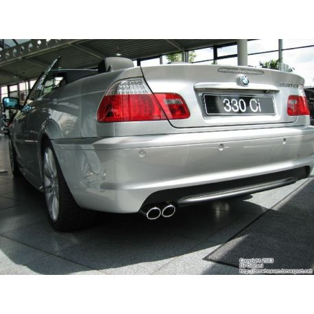 Rear bumper MSPORT BMW 3 E46 coupè 99-06