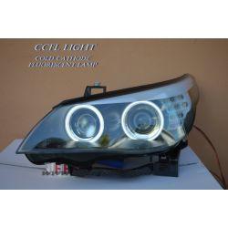 CCFL Angel headlights BMW E60 05-07 XENON D1S black