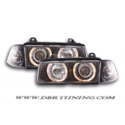 Headlights Angel Eyes BMW 3 4porte (E36) 92-98 black