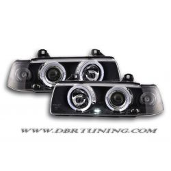 Headlights Led Angel Eyes BMW 3 limo E36 92-98 black