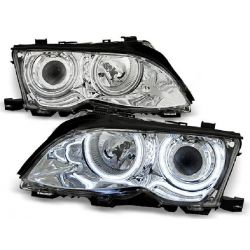 Headlights Angel Eyes CCFL BMW 3 limo E46 01-05 chrome