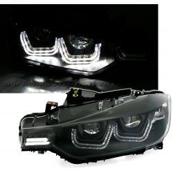 Coppia fari 3D LED Bmw F30 F31 11-15 neri