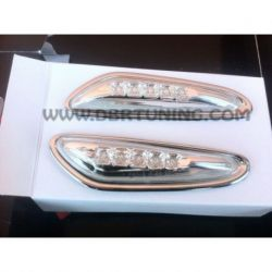 Coppia frecce laterali LED BMW E60-E87-E46 cromo