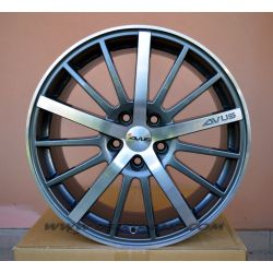Alloy wheel AVUS AC-M01 Anthracite Polished 18