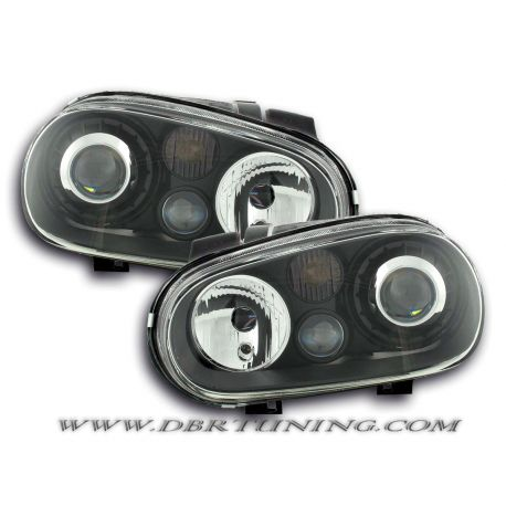 Headlight R32-look Golf 4 98-03 black