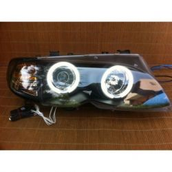 Fari Angel Eyes CCFL BMW 3 E46 4 porte 01-05 neri