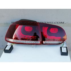 Taillight full LED GOLF 6 GTI Look 08-12 red-clear