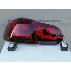 Taillight full LED GOLF 6 R Look 08-12 red smoke