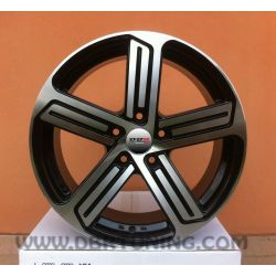 Alloy wheel VW WIZZARD R Black Polish 17