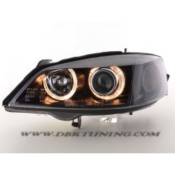 Headlights Angel Eyes Opel  Astra G 97-04 neri
