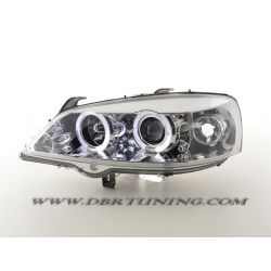 Headlights Angel Eyes Led Opel Astra G 97 - 04
