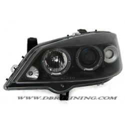 Headlights Angel Eyes Led Opel  Astra G 97-04 neri