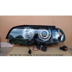 Headlight Angel CCFL BMW 3 2 door E46 99-02 black