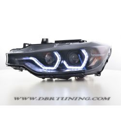 Headlights 3D LED Bmw F30 F31 11-15 black