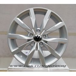 Alloy wheel F893 VW DIJON Black Polish 17