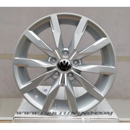 Alloy wheel F893 VW DIJON Black Polish 17
