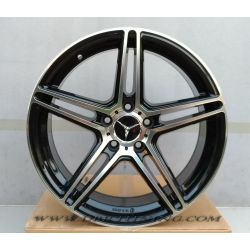 Alloy wheel CIRCUIT Black Polish 18