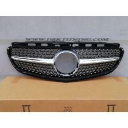Sport grill Matrix Mercedes E W212 13-16 Silver