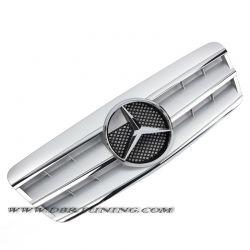 Grill Mercedes CLK W208 97-02 silver-chrome
