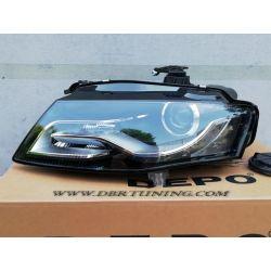 Xenon DRL left headlight Audi A4 B8 07-11 black