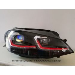 Headlight Dinamic Led VW GOLF 7 12-17 black