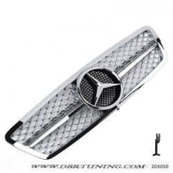 Grill look AMG Mercedes C W203 00-07 full chrome