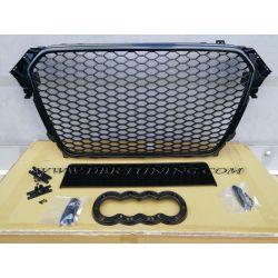 Sport grill look RS AUDI A4 B8 11-15 glossy black