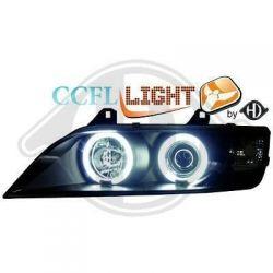 Coppia fari Angel eyes CCFL Bmw Z3 (E37) 96-02 neri