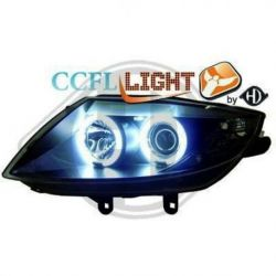 Gruppi ottici Angel eyes CCFL Bmw Z4 E85-86 03-08 ner