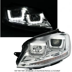 Fari Angel + freccia Led VW GOLF 7 12-17