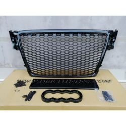 Sport grill look RS AUDI A4 B8 07-11 glossy black
