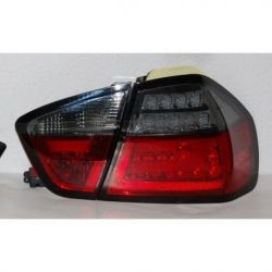 Fanali Led neon BMW 3 E90 05-08 rosso-fumè