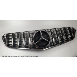 Grille Mercedes E 207 GTR look 09-13 black chrome