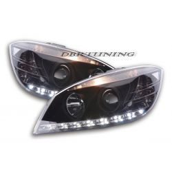 Headlights Daylight Led Mercedes W204 07-11 black